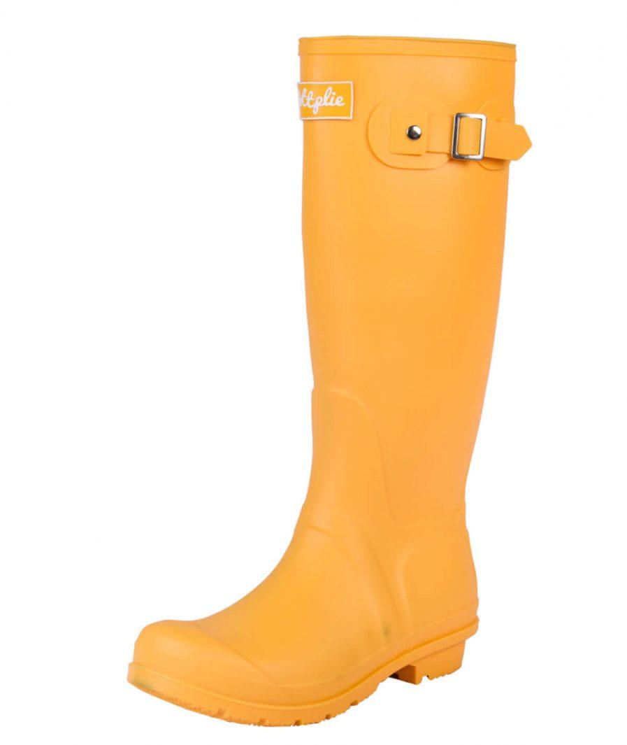 Botas Lluvia Wellington Amarillo Profundo Matte