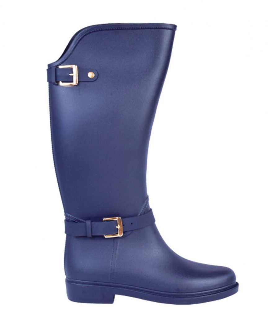 Botas Lluvia Eternity Twin Buckle Azul Navy