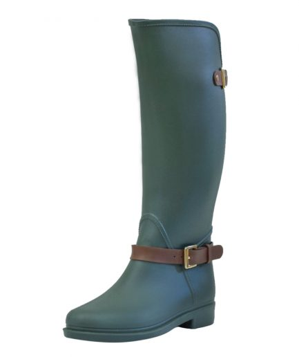 Bottplie Botas Lluvia Eternity Twin Buckle verde CAFE